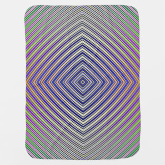 Psychedelic Pyramid Baby Blanket