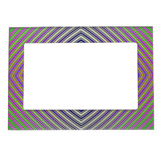Psychedelic Pyramid Plan Magnetic Frame