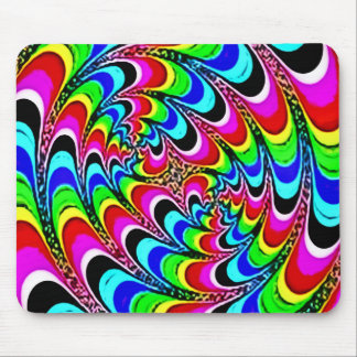 Psychedelic Quantum Rainbow Art Mouse Pad