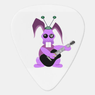 Psychedelic rabbit plectrum
