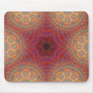Psychedelic Radial Artwork: Mouse Mat