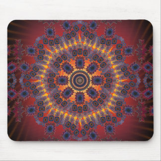 Psychedelic Radial Design: Mousepad