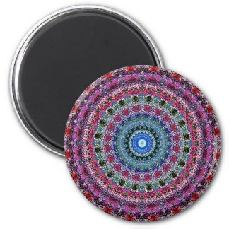 Psychedelic Radial Pattern: 6 Cm Round Magnet