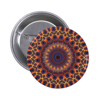 Psychedelic Radial Pattern: 6 Cm Round Badge