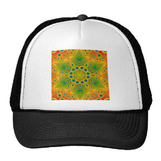 Psychedelic Radial Pattern: Cap