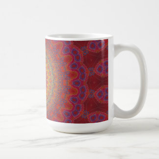 Psychedelic Radial Pattern: Coffee Mug