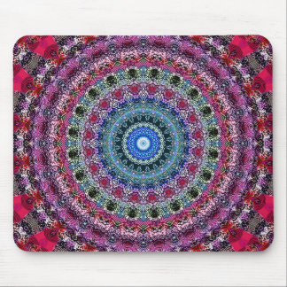 Psychedelic Radial Pattern: Mouse Mat
