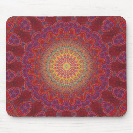 Psychedelic Radial Pattern: Mousemats