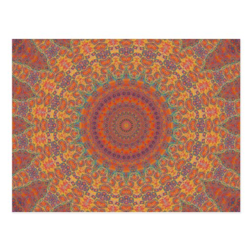 Psychedelic Radial Pattern: Postcards