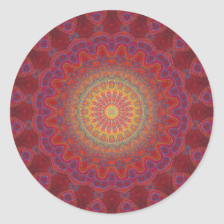 Psychedelic Radial Pattern: Round Sticker