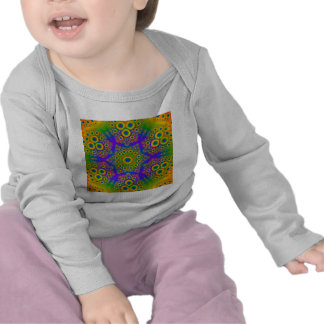 Psychedelic Radial Pattern T Shirt