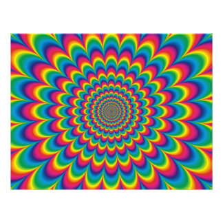 Psychedelic rainbow abstract design 21.5 cm x 28 cm flyer