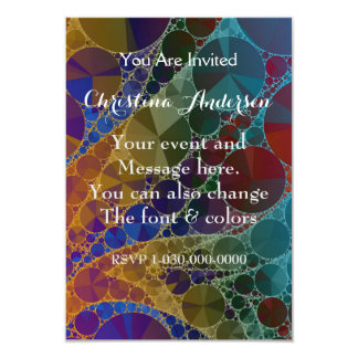 Psychedelic Rainbow Bling Abstract 9 Cm X 13 Cm Invitation Card