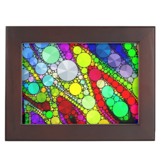 Psychedelic Rainbow Bling Pattern Memory Box