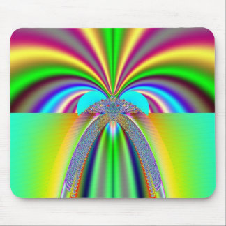 Psychedelic Rainbow Burst Mouse Pad