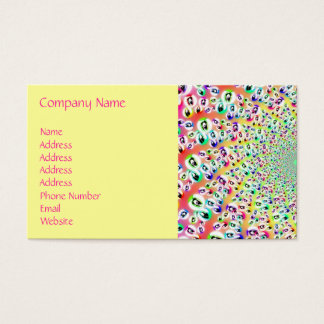 Psychedelic Rainbow Eyes Mandala Business Card