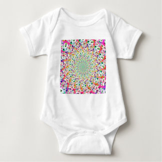 Psychedelic Rainbow Eyes Mandala Infant Creeper