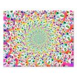 Psychedelic Rainbow Eyes Mandala Photo Art