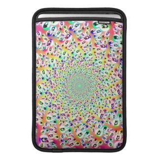 Psychedelic Rainbow Eyes Mandala Sleeve For MacBook Air