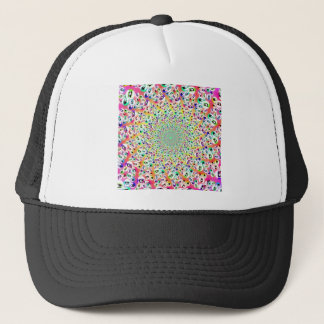 Psychedelic Rainbow Eyes Mandala Trucker Hat