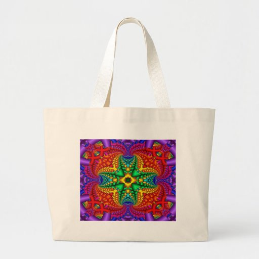 Psychedelic Rainbow Fractal Bags