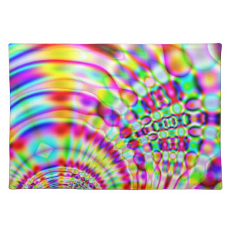 Psychedelic Rainbow Hippy Sunrise Placemat