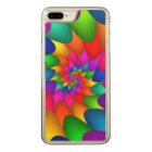 Psychedelic Rainbow iPhone 6 Plus Slim Wood Carved iPhone 8 Plus/7 Plus Case