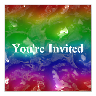 Psychedelic Rainbow Jellied Ooze 13 Cm X 13 Cm Square Invitation Card