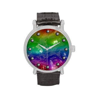 Psychedelic Rainbow Jellied Ooze Wrist Watch