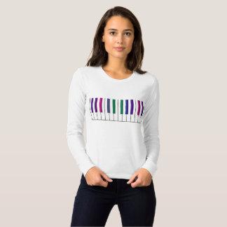 Psychedelic Rainbow Keys Music T-Shirt
