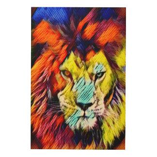 Psychedelic Rainbow Lion Art