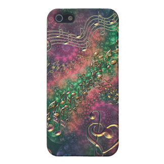 Psychedelic Rainbow Notes and Music Symbol  Case For The iPhone 5