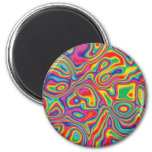 Psychedelic Rainbow Oil Pattern 6 Cm Round Magnet