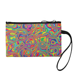 Psychedelic Rainbow Oil Pattern Coin Purse