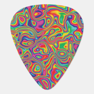 Psychedelic Rainbow Oil Pattern Guitar Pick