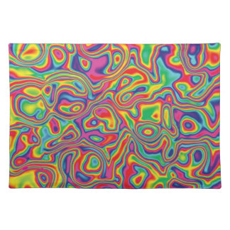 Psychedelic Rainbow Oil Pattern Placemat