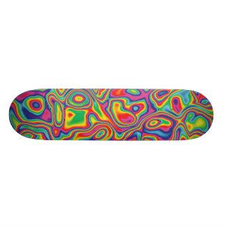 Psychedelic Rainbow Oil Pattern Skateboard
