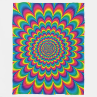Psychedelic Rainbow Optical Illusion Blanket