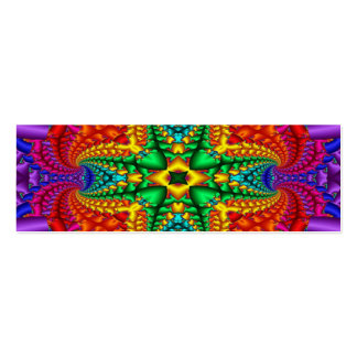 Psychedelic Rainbow Skinny Business Card