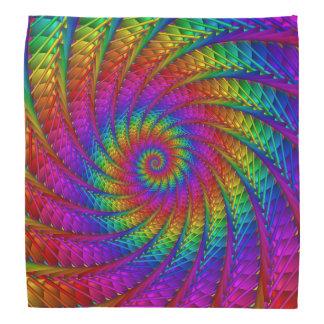 Psychedelic Rainbow Spiral Bandana