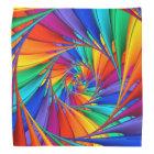 Psychedelic Rainbow Spiral Bandanna