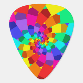 Psychedelic Rainbow Spiral Guitar Pick