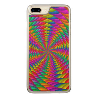 Psychedelic Rainbow Spiral iPhone 6 Plus Carved iPhone 8 Plus/7 Plus Case