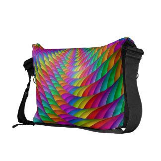 Psychedelic Rainbow Spiral Messenger Bag