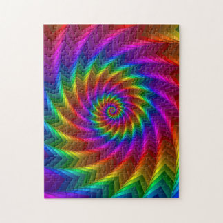 Psychedelic Rainbow Spiral Puzzle