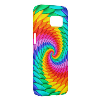 Psychedelic Rainbow Spiral S7 Case