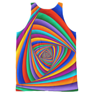 Psychedelic Rainbow Spiral Unisex Tank Top All-Over Print Tank Top