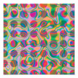Psychedelic Rainbow Spots Pattern
