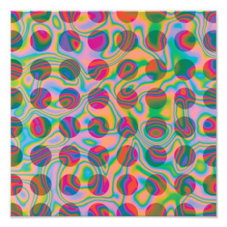 Psychedelic Rainbow Spots Pattern Art Photo