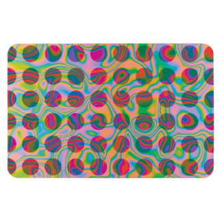 Psychedelic Rainbow Spots Pattern Rectangular Photo Magnet